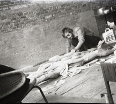 Paul Thek, working on Fishman, Amsterdam, 1969. Everlasting loan: Franz Deckwitz 1994/2011.