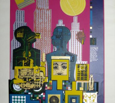 Eduardo Paolozzi, Wittgenstein in New York uit de serie 'As is When', 1965. Zeefdruk. Collectie Museum Boijmans Van Beuningen.