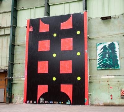 Exhibition overview 'Submarine Wharf - XXXL Painting' Photo: Lotte Stekelenburg