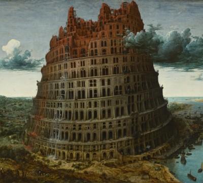 Pieter Bruegel, The Tower of Babel, c. 1568, Museum Boijmans Van Beuningen, Rotterdam. Acquired with the collection of D.G. van Beuningen