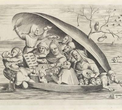 Pieter van der Heyden, Merrymakers in a Mussel Shell, 1562, Museum Boijmans Van Beuningen, Rotterdam. From the estate of Dr. J.C.J. Bierens de Haan 1951