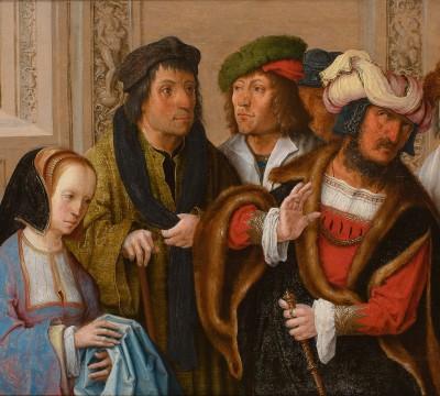 Lucas van Leyden, Potiphar's Wife Displays Joseph's Garment, c.1512, Museum Boijmans Van Beuningen, Rotterdam. Acquired with the collection of D.G. van Beuningen