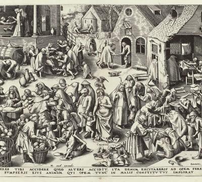 Philips Galle, Caritas, c. 1559 – 1560, Museum Boijmans Van Beuningen, Rotterdam. From the estate of Dr. J.C.J. Bierens de Haan 1951