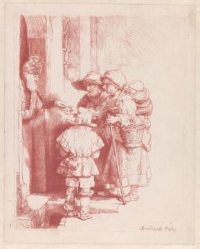 Rembrandt van Rijn, Een blinde liereman en zijn familie aan de deur van een huis, 1648, Museum Boijmans Van Beuningen, Rotterdam. Aankoop met steun van: Stichting Lucas van Leyden  / Creditline fotograaf: Rik Klein Gotink, Harderwijk