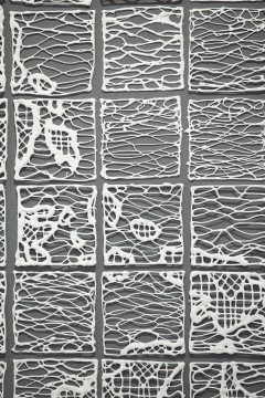 Detail of Isabel Ferrand's World Lace, 2013. Photo: Gyeonggi Ceramic Biennale, South Korea