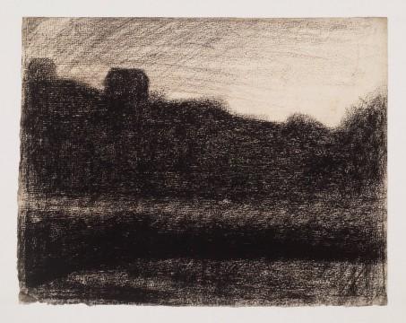 Georges Pierre Seurat, Landschap bij zonsondergang, circa 1882 - 1883, Museum Boijmans Van Beuningen