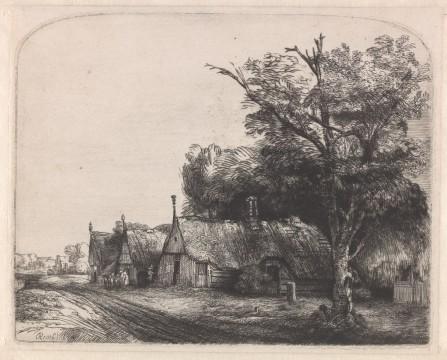 Rembrandt van Rijn, Landschap met drie boerenhuizen aan een weg, 1650,  Museum Boijmans Van Beuningen, Rotterdam / Creditline fotograaf: Rik Klein Gotink, Harderwijk