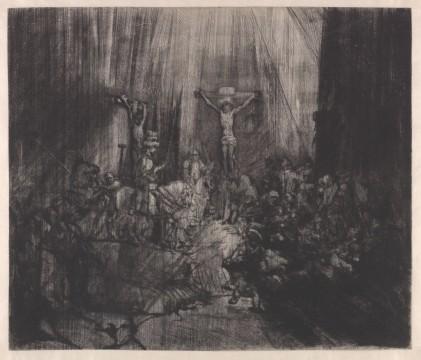 Rembrandt van Rijn ( Leiden 1606 – Amsterdam 1669), De drie kruisen, 1653, Museum Boijmans Van Beuningen, Rotterdam / Creditline fotograaf: Rik Klein Gotink, Harderwijk