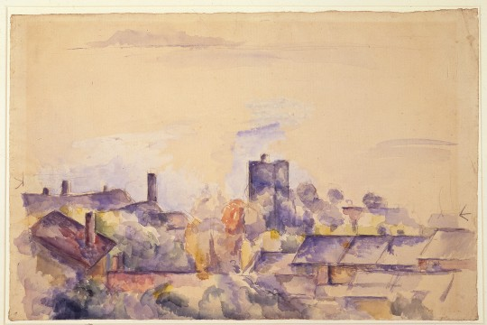 Paul Cézanne, Rooftops of l'Estaque, c. 1878 – 1882, Museum Boijmans Van Beuningen, Rotterdam (former collection Koenigs)