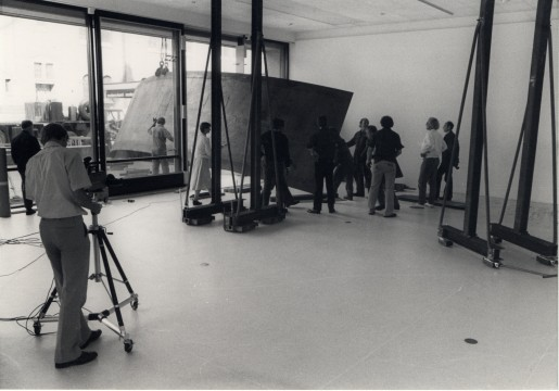 Richard Serra: installation, 1980. Photo: Dick Wolters, Rotterdam