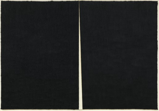 "Richard Serra: Rift #1, 2011Paintstick on handmade paper 	115 3/8 x 165 1/8"" (2.9 x 4.2 m)  C/o Pictoright Amsterdam, 2017."