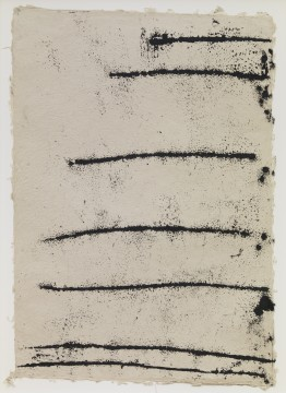 "Richard Serra: Rotterdam Horizontal #8, 2017.Etching ink, paintstick, silica and lithocrayon 		on paper  		40 x 28½"" (101 x 71.1 cm)  C/o Pictoright Amsterdam, 2017."