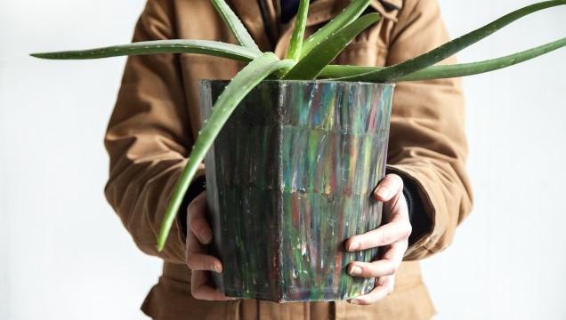 Precious Plastics, flowerpot, Dave Hakkens