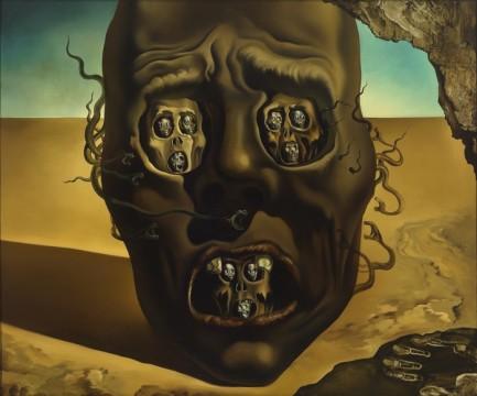 Salvador Dalí, Le visage de la guerre (The face of war), 1940. Museum Boijmans Van Beuningen, Rotterdam, photo: Studio Tromp, Rotterdam. © Salvador Dalí, Fundación Gala-Salvador Dalí