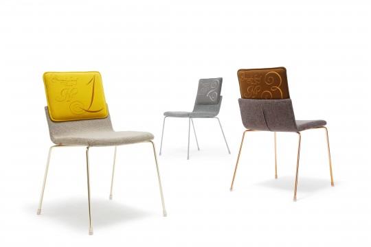 A. Bernotat, limited-edition Triennial Chair for the Milan Furniture Fair, 2012, steel and textile, Gispen   photo: Chris van Koeverden.