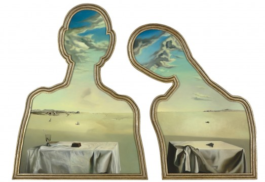 Salvador Dali, Couple aux têtes pleines de nuages, 1936. Museum Boijmans Van Beuningen, Rotterdam. forotgraaf: Studio Tromp, Rotterdam. © Salvador Dalí, Dundación Gala-Salvador Dalí. ©Pictoright Amsterdam 2017