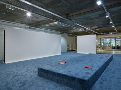 Exhibition overview 'Sensory Spaces - Olaf Nicolai'. Photo: Hans Wilschut
