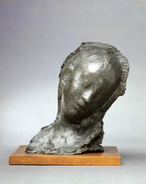Medardo Rosso, Enfant malade (Ziek kind), 1895 (1903-1904), brons, 25,5 x 14,5 x 16,5 cm. Collectie Galleria d'Arte Moderna, Milaan.