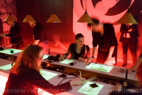Studio Man Ray, tentoonstelling Brancusi, Rosso, Man Ray - Framing Sculpture, Museum Boijmans Van Beuningen, 2014. Foto: Gert-Jan de Rooij, Amsterdam.