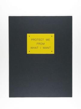 Contemporary Archeology - Protect Me from What I want, Voorzijde kunstenaarseditie, 1990. Uitgeverij Bébert. Collectie Museum Boijmans Van Beuningen