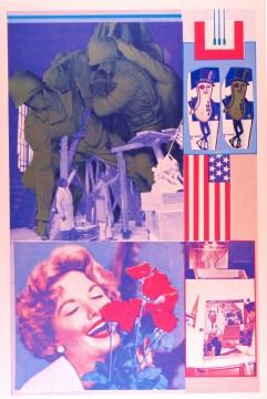 Eduardo Paolozzi, Decency and Decorum in Production uit de serie 'Moonstrips Empire News. Vol II: General Dynamic F.U.N.', 1965-1970, diverse technieken. Collectie Museum Boijmans Van Beuningen.