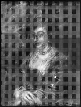 Röntgenonderzoek, röntgenfoto geheel. Atelier Boersma, Rotterdam (2006). Peter Paul Rubens, Portret van een vrouw (1635-1640)