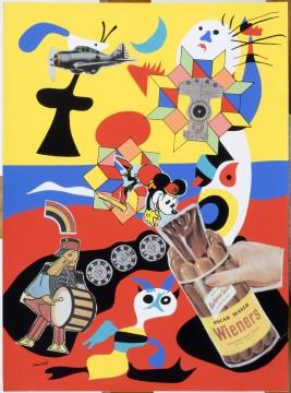 Eduardo Paolozzi, Sack-o-Sauce uit de serie 'Bunk!', 1952, uitgegeven als facsimile in 1972. Zeefdruk. Collectie Laing Art Gallery, Newcastle upon Tyne (Tyne & Wear Archives & Museums).
