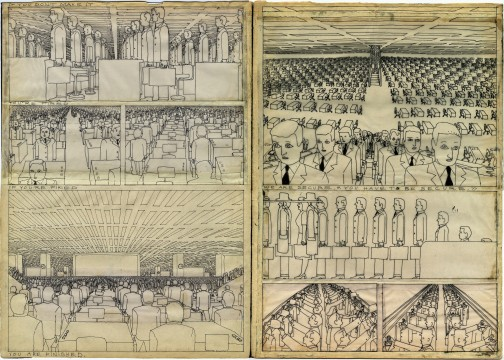Hariton Pushwagner, van / from: Soft City, pagina / page 117 - 118, tekening / drawing 183 - 184, 1969-1975, Image courtesy and copyright the artist