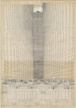 Hariton Pushwagner, van: Soft City, pagina 78 tekening 118 - 119, 1969-1975, Image courtesy and copyright the artist