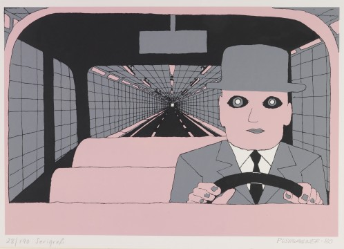 Hariton Pushwagner, On the Road I, van / from: A Day in the Life of Family Man, 1980, Image courtesy and copyright the artist