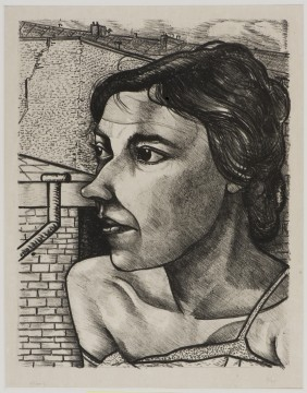 Charley Toorop, Fabrieksvrouw in Parijs, 1931 litho, 35 x 27,4 cm Nr. 9 van de oplage van 25, uitgave kunsthandel Nieuwenhuizen Segaar, Den Haag. Verzameling W., ruil met particulier, 2003.