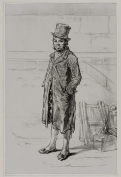 Gavarni, Eigenaar, ca. 1860 litho op chine-collé, 29,1 x 19 cm Druk Lemercier. Pl. 16 uit de serie van 50 litho's Physionomies Parisiennes. Verzameling W., prenthandel R.G. Michel, Parijs 1975.