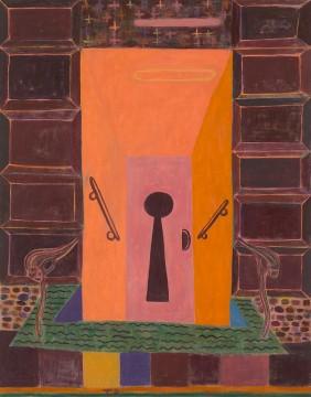 Tal R - Keyhole, 2016 Pigment en konijnenlijm op canvas, 240 x 188 cm Courtesy of the Artist and Cheim & Read, New York