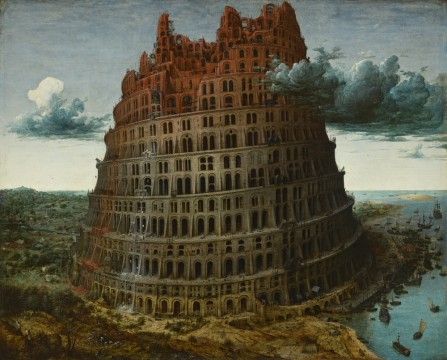 Pieter Bruegel, The Tower of Babel, c. 1568, Museum Boijmans Van Beuningen, Rotterdam. Acquired with the collection of D.G. van Beuningen