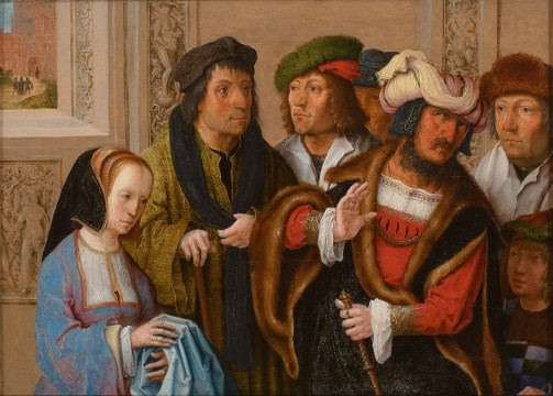 Lucas van Leyden, Potiphar's Wife Displays Joseph's Garment, c.1512, Museum Boijmans Van Beuningen, Rotterdam. Acquired with the collection of D.G. van Beuningen
