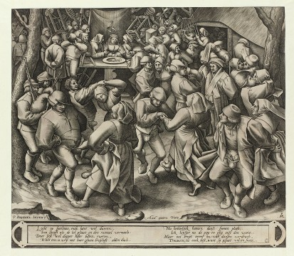 Pieter van der Heyden, The Peasant Wedding Dance, c.1570-1572, Museum Boijmans Van Beuningen, Rotterdam. From the estate of Dr. J.C.J. Bierens de Haan 1951