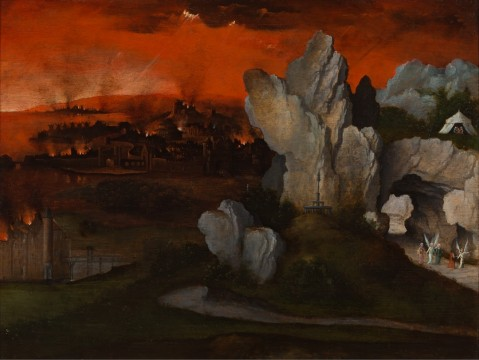 Joachim Patinir, Landscape with the Destruction of Sodom and Gomorrah, c. 1520, Museum Boijmans Van Beuningen, Rotterdam. Loan: Rijksdienst voor het Cultureel Erfgoed 1948 (former collection Koenigs)