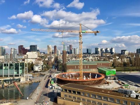 Still uit de documentaire van Sonia Herman Dolz over de bouw van Depot Boijmans Van Beuningen