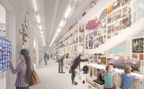 Het geplande Depot Boijmans Van Beuningen wordt een echt openbaar gebouw. Bezoekers kunnen er volgens een zelfgekozen route ronddwalen tussen de 145.000 schatten van de collectie.