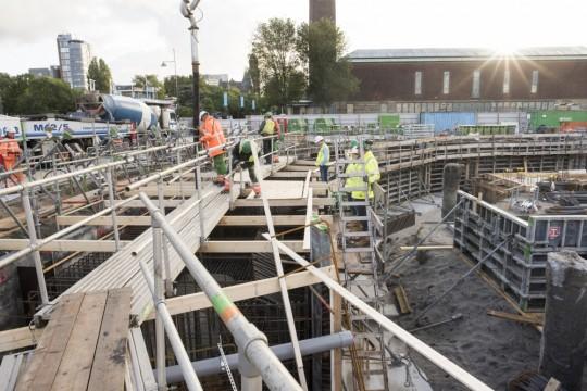 Museum Boijmans Van Beuningen deelt maandelijks foto's van de voortgang op het bouwterrein van het depot. Rob Glastra Fotografie - Schoonhoven©