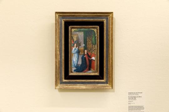 Paneel 'Annunciatie' dat met het verzekeringsgeld van het gestolen schilderij is aangekocht. Foto: Aad Hoogendoorn.