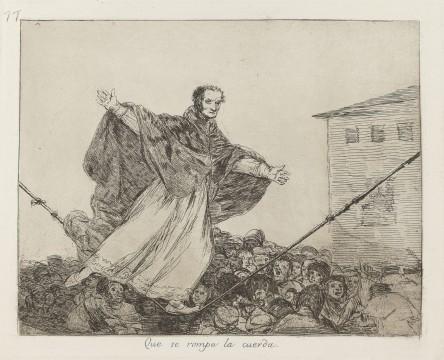 Francisco Goya, Que se rompe la cuerda (Moge het touw breken!), ca. 1814-1820, collectie Museum Boijmans Van Beuningen