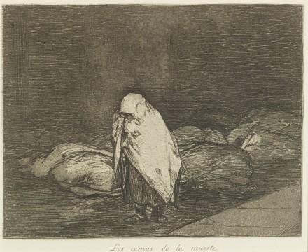 Francisco Goya, Las camas de la muerte (De bedden des doods), ca. 1814-1820, collectie Museum Boijmans Van Beuningen