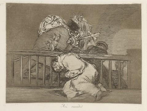 Francisco Goya, Así sucedió (Zo gebeurde het), ca. 1810-1814, collectie Museum Boijmans Van Beuningen