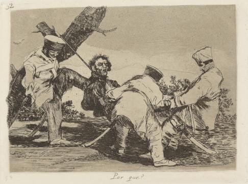 Francisco Goya, Por qué? (Waarom?), ca. 1810-1814, collectie Museum Boijmans Van Beuningen