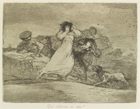 Francisco Goya, Qué alboroto es este? (Wat betekent dit tumult?), ca. 1814-1820, collectie Museum Boijmans Van Beuningen