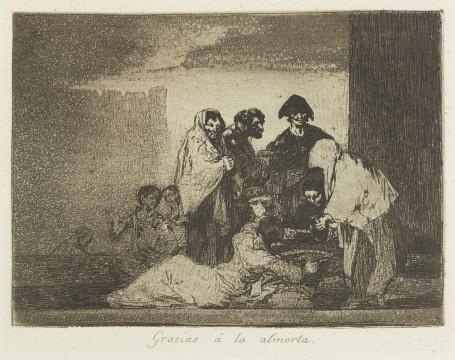 Francisco Goya, Gracias á la almorta (Dankzij de bonensoep), ca. 1811-1812, collectie Museum Boijmans Van Beuningen