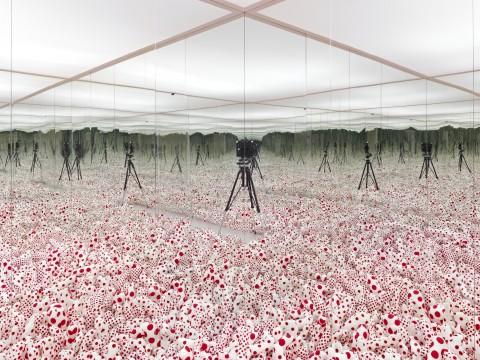 Yayoi Kusama, Infinity Mirror Room – Phalli's Field, 1965 (1998), collectie Museum Boijmans Van Beuningen.
