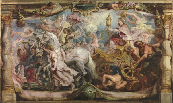 Peter Paul Rubens, The Triumph of the Church, oil on panel, 63,5 x 90,5 cm, Madrid, Museo Nacional del Prado