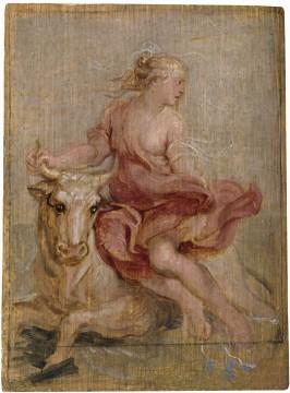 Peter Paul Rubens, The Rape of Europa, oil on panel, 18,9 x 13,7 cm, Madrid, Museo Nacional del Prado